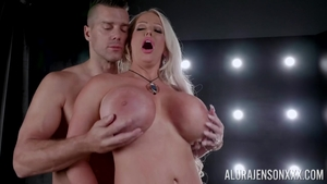 Buxom Alura Jenson dick sucking
