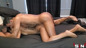 Plowing hard in the company of big butt ebony whore