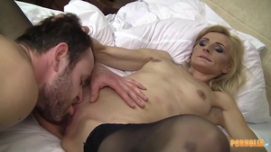 Hard sex together with erotic blonde