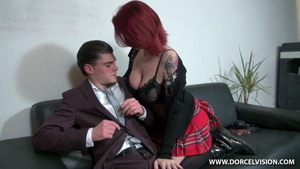 Ramming hard alongside huge tits french brunette