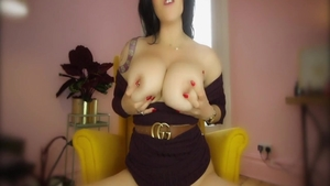JOI huge boobs babe pussy fuck