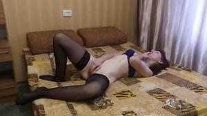 Lonely wife in tight stockings gets drilled