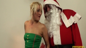 Blonde haired spanking