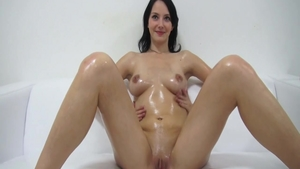 Oiled czech orgasm at the casting