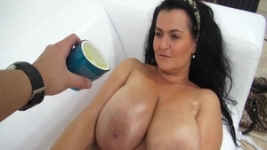 Czech titty fucking at castings