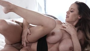 Hawt blonde haired rushes cock sucking