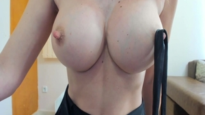 Big boobs blonde playing with sex toys on live cam