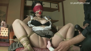 BDSM asian in sexy stockings