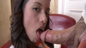 Young latina brunette has a thing for hard nailining