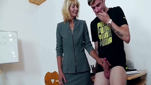 Large boobs thick blonde hair rough ass fucked in classroom
