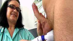 Busty & very sexy nurse masturbating