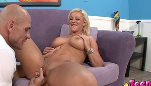 Very hot teen finds pleasure in nailed rough