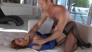 Pornstar Veronica Avluv rough double penetration in the woods