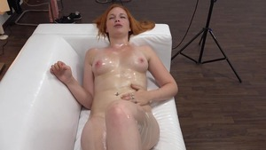 Big tits redhead really likes sex scene