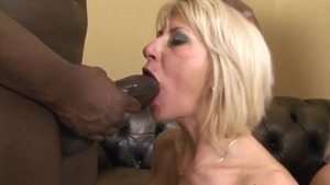 Large boobs mature helps with foursome