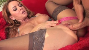 Real fucking escorted by shaved pussy cougar Janet Mason