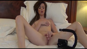 Young chick masturbating in hotel